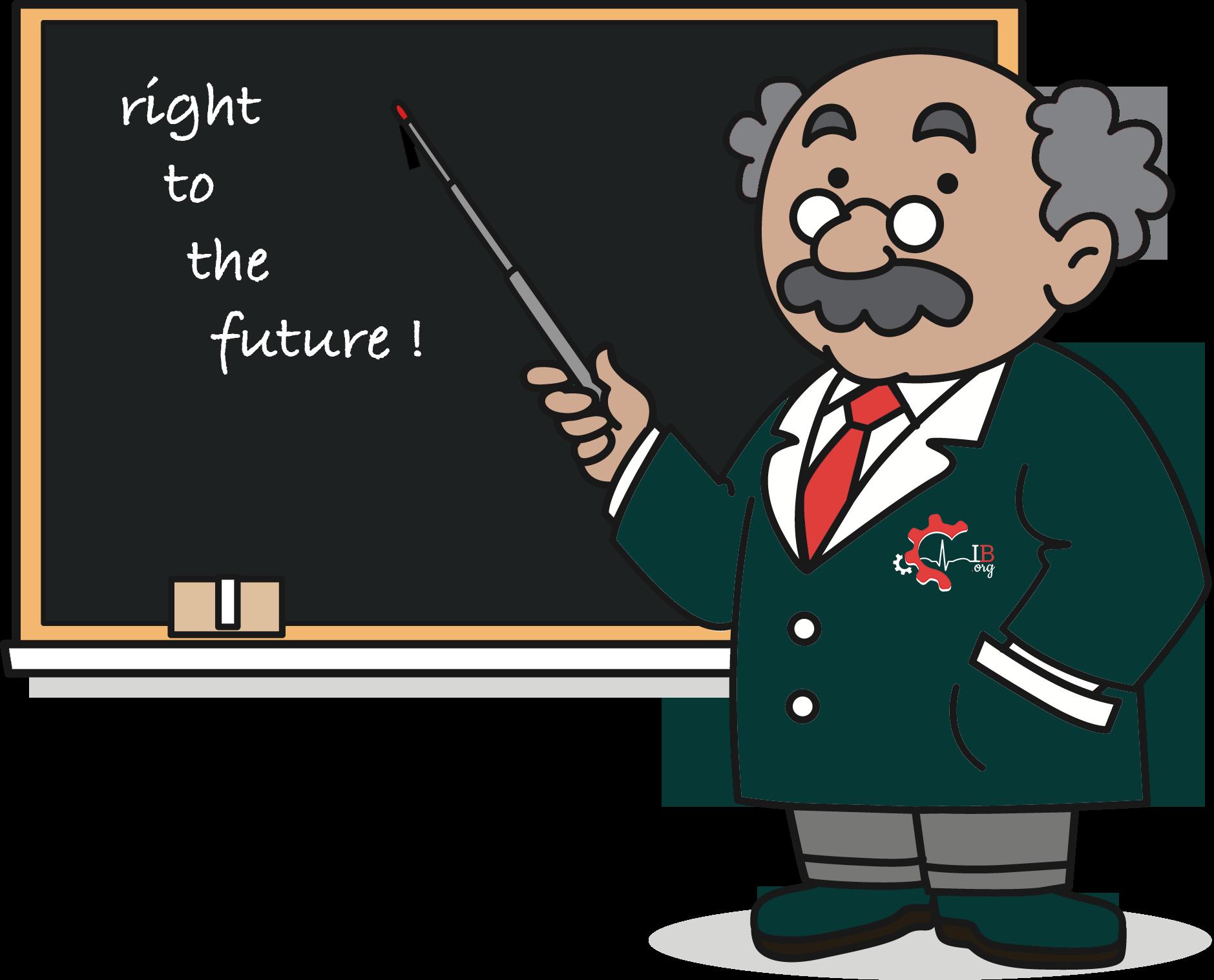 Professore lavagna spiega futuro