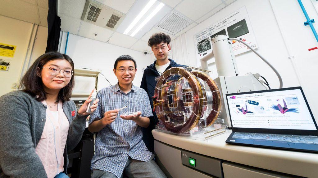 research team Dr Shen Yajing Tan Tong Yang Xiong CityU SIAT CAS Hong Kong M-spray millirobot
